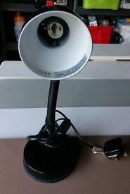 5 Small black desk lamps