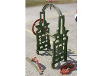 Antique cast iron mangle-ideal for conversion into a table or bird table. Made by Brundish Eng. Co