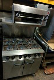 Falcon Dominator 6 burner Cooker and Salamander Grill