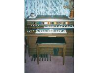 Electronic Keyboard Kawai E100 with twin keyboards and pedal board