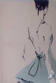 Large canvas modern ballerina