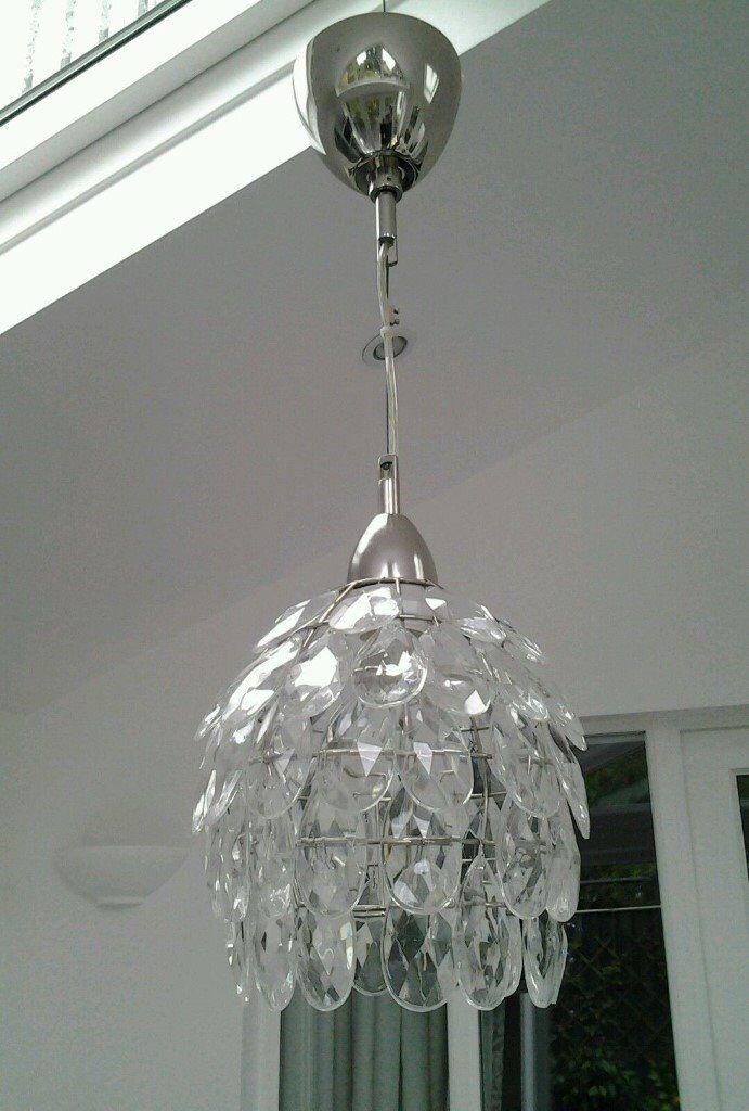 Ikea Rimsbo Glass Drops Chandelier Light Shade