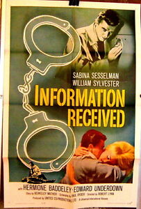 MOVIE POSTER: Information Received 1962