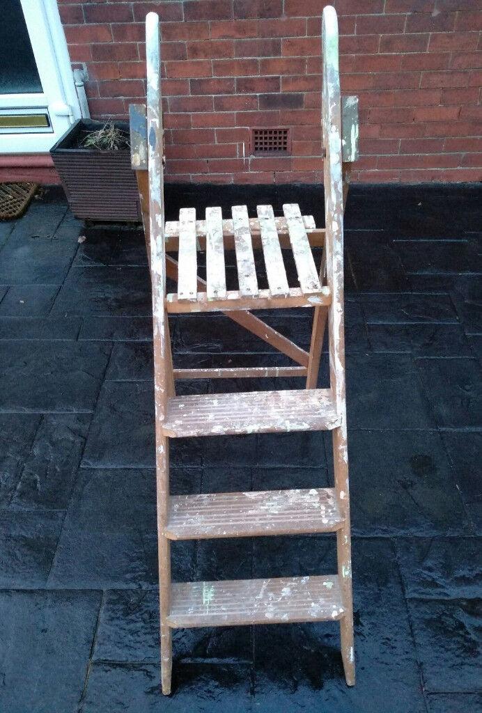 Vintage Decorative Wooden Step Ladders