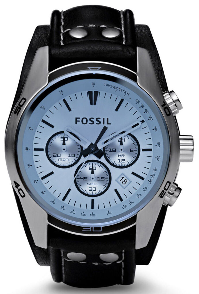 top 10 fossil watches for men fossil ch2564 men s sport cuff chronograph leather watch black