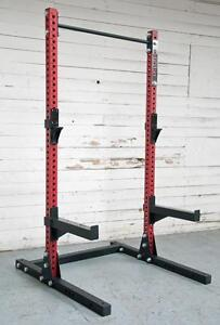 NEW GARAGE GYM SET eSPORT DIRECT IRON BULL SERIS ½ RACK AND MONSTER BENCH T1039