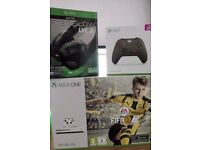 XBOX One S - 500GB / Go Console / Army Green Controller / LVL3 Headset with Games