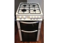 Double oven gas cooker