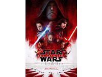 Star Wars: The Last Jedi | Royal London PREMIERE TICKETS x 2
