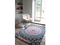 BEAUTIFUL NOMADIC PLANTATION DESIGNER RUG - 180 X 270cm