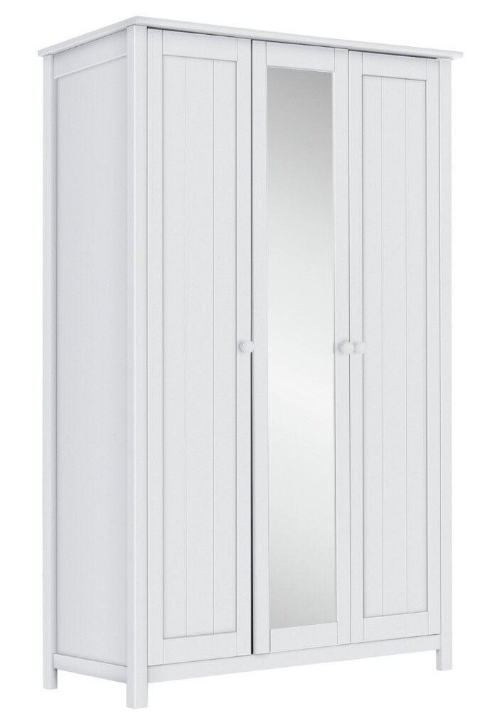 613ba6a8b45 EX DISPLAY Argos Home New Scandinavia 3 Door Mirrored Wardrobe - White