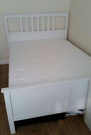 IKEA Hemnes double bed + Hyllestad mattress