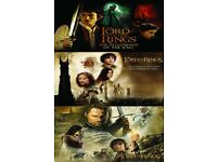 LORD OF THE RINGS TRILOGY POSTER - BARGAIN ONLY £2