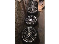 "Genuine Porsche 991 Turbo 20"" alloy wheels & tyres. (1 tyre needs replacement)"