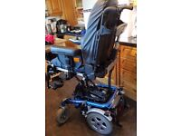 Invacare XTR 2 electric power chair with electrical modulite seating