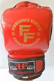 Furiousfistsuk Red Color MMA Training & Sparring Gloves Red 2 tone Color