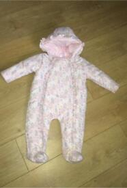 Girls all in one snowsuit