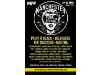 2 tickets for Manchester punk festival