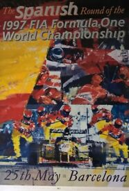 1997 F1 Posters (Signed - Dexter Brown)