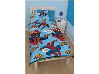 Spider-Man curtains and matching bedding