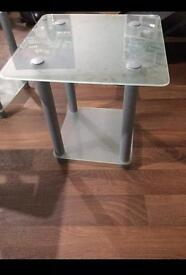 Frosted glass tables x2