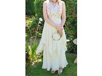 Vintage Boho style Wedding dress size small