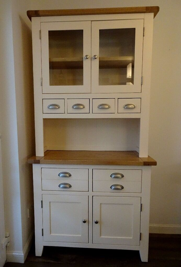 Solid Wood Kitchen Or Dining Room Display Storage Dresser Real Oak Worktop And Top
