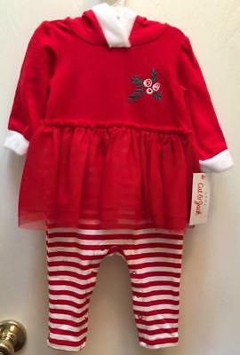Christmas Girl Santa Elf Dress Outfit Costume Photo Op Red 1 Piece 3-6 Mo. NWT - Santa Elf Outfit