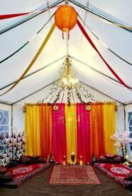 Mehndi Wedding Stage Set up