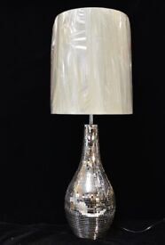 NEXT mink mosaic table lamp - BOXED NEW