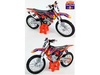 New Burago 1:18 Ryan Dungey Red Bull KTM SXF 450 Xmas Kids Gift Toy Bike