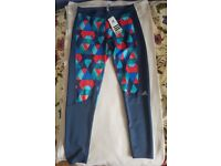 *Vibrantly coloured, geometric style Adidas Performance leggings. Brand new, not used & w/ labels**