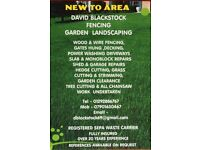 FENCING LANDSCAPING GARDENING TREE WORK & SHED ROOF REPAIRS OFFERED