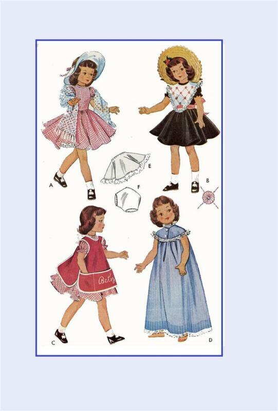"""Doll Clothing Pattern for 14"""" P90 Betsy McCall Toni by American Character 1812"""