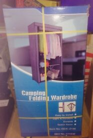 Folding Wardrobe. Brand New in Sealed box. Ideal for camping or loft storage