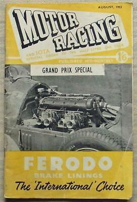 MOTOR RACING & IOTA Journal Car Magazine Aug 1953 Half Litre Club