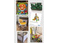 High Chair/Trike/Travel Cot/Baby Walker Car