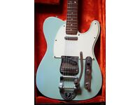 Fender Vintage 1967 Telecaster Sonic Blue Bigsby with Hard Case