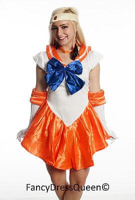 Venus Cosplay Kostüm Sailor Moon Orange Gr. S/M/L/XL/XXL (Sailor Moon Venus Kostüm)