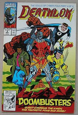 Deathlok Issue 5 from Marvel Comics - Starring the X-Men & Fantastic 4 Nov.1991