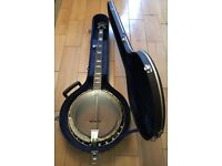 Ibanez BJ350G 'Mountaineer' 5 String Resonator Banjo with hard case