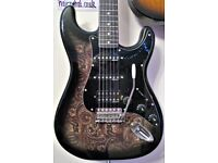 HARLEY BENTON ST-70 Black Paisley Deluxe. New Set-Up and Quality Strings used