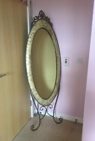 Statement bedroom floor mirror