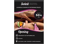 Soleil Tanning Studio, 269 Tilehill Lane, 26th September Free parking