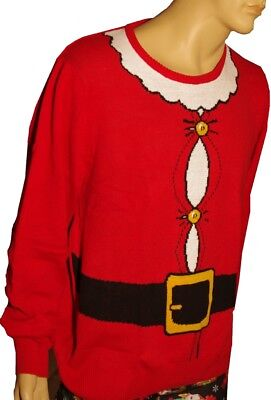 Mens SANTA CLAUS St Nick Suit Ugly Christmas Sweater Party XXL 2X Big & Tall NEW ()