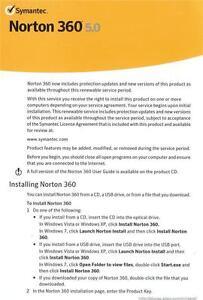 Norton 360 Premier 3PC 1 Year Product Key Card Free Upgrade