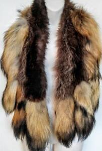 COSPLAY DELUX Red Fox Fur 11 Tails Stole Real Fur Collar Shawl Unique Luxury Native Indian Wild Woman Warm Scarf Any OS