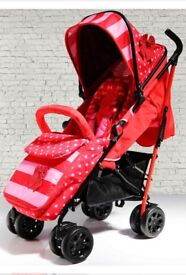 BRAND New Boxed ISafe Stroller with Matching Footmuff head cushion and cup holder NEW
