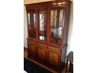 13 pane wooden and glass display Cabinet with drawers