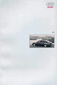 2001-2002-Audi-A8-66-page-Original-German-Sales-Brochure-Catalog-Prospekt